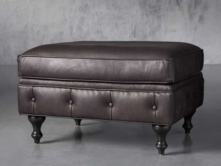 "Wessex Leather 32"" Ottoman, slide 2 of 7"