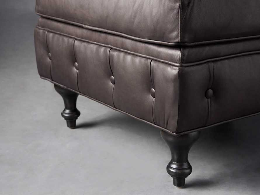 "Wessex Leather 32"" Ottoman, slide 4 of 7"