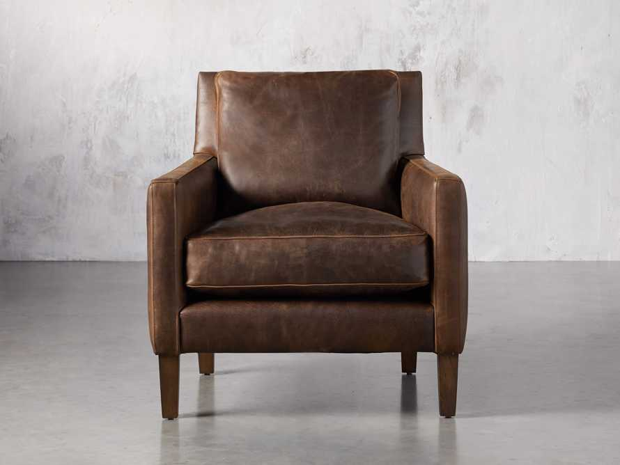 "Kenley Leather 33"" Chair, slide 2 of 8"