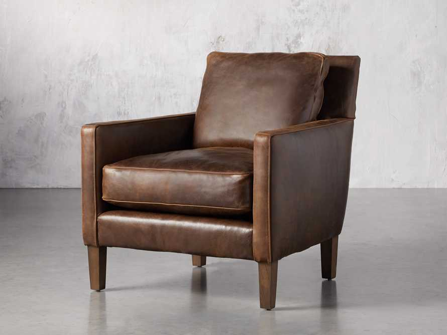 "Kenley Leather 33"" Chair, slide 3 of 8"