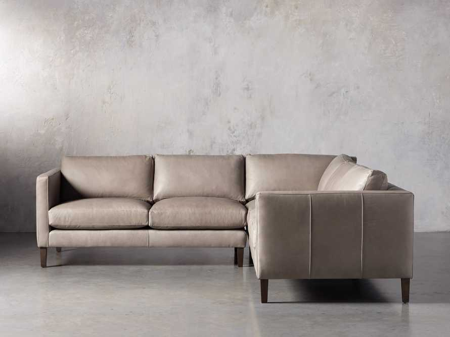 "Radford Leather 105"" Two Piece Sectional, slide 2 of 12"