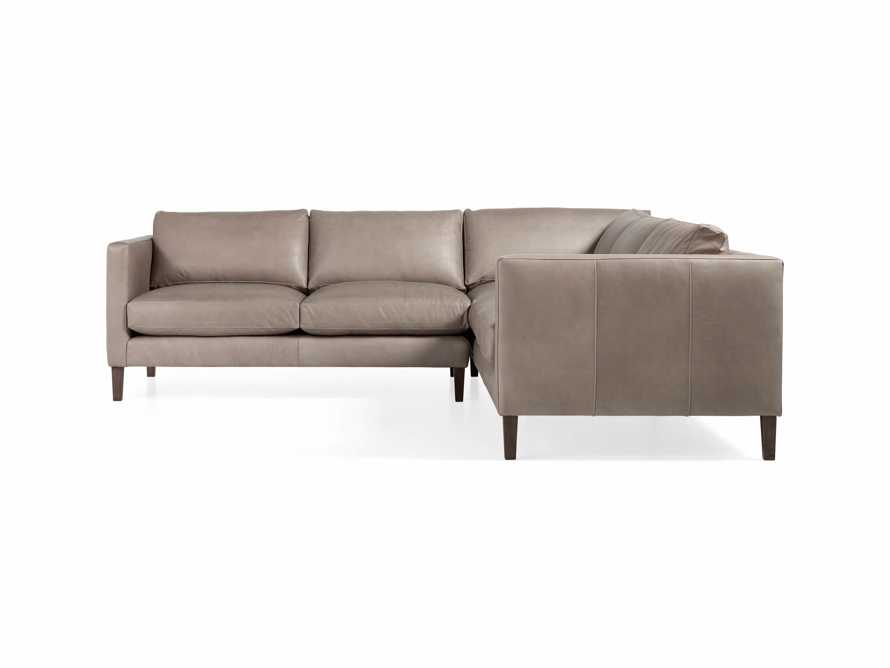 "Radford Leather 105"" Two Piece Sectional"