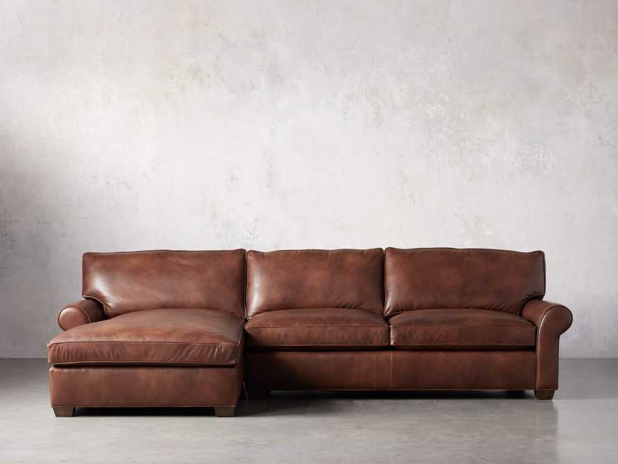 Colby Leather Left Arm Sectional