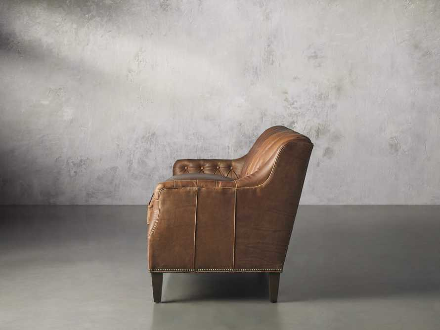"Hartford Leather 74"" Settee, slide 4 of 8"