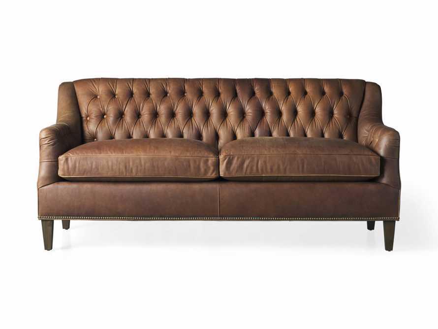 "Hartford Leather 74"" Settee, slide 7 of 8"