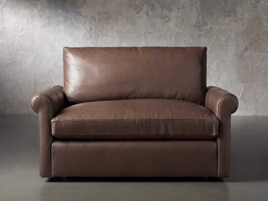 Kipton Leather Rolled Arm Chair, slide 1 of 7