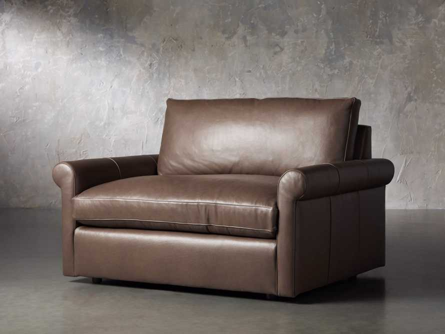 Kipton Leather Rolled Arm Chair, slide 2 of 7