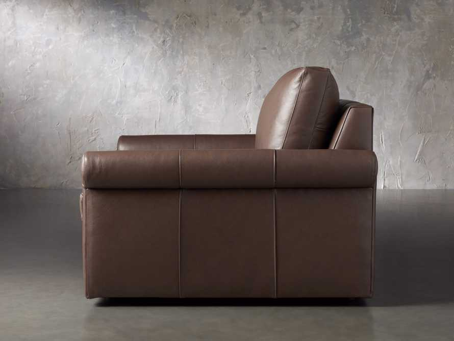 Kipton Leather Rolled Arm Chair, slide 3 of 7