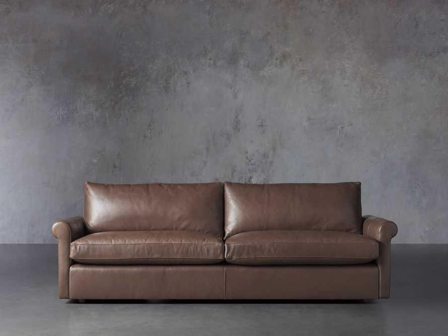 "Kipton Leather 97"" Rolled Arm Sofa, slide 2 of 8"