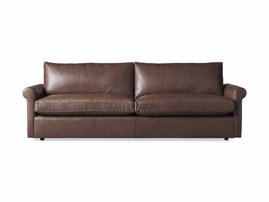 "Kipton Leather 97"" Rolled Arm Sofa, slide 7 of 8"