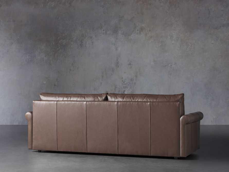 "Kipton Leather 97"" Rolled Arm Sofa, slide 5 of 8"