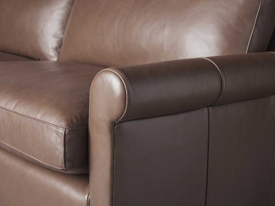 "Kipton Leather 97"" Rolled Arm Sofa, slide 6 of 8"