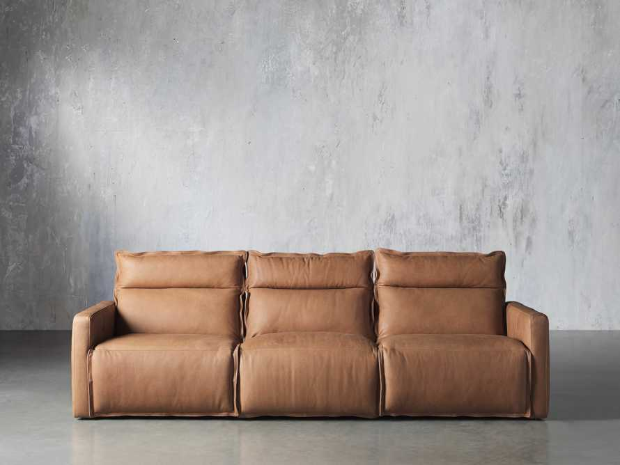 Rowland Leather Three Piece Sectional in Burnham Camel, slide 1 of 7