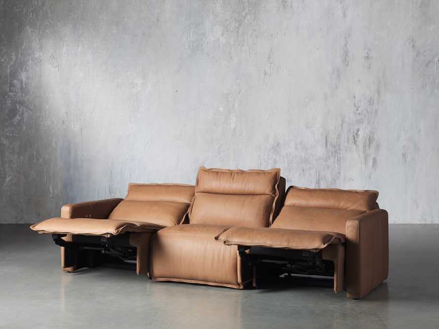 Rowland Leather Three Piece Sectional in Burnham Camel, slide 3 of 7