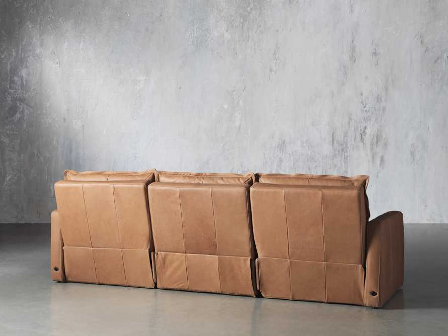 Rowland Leather Three Piece Sectional in Burnham Camel, slide 4 of 7
