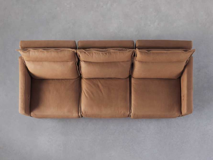 Rowland Leather Three Piece Sectional in Burnham Camel, slide 5 of 7