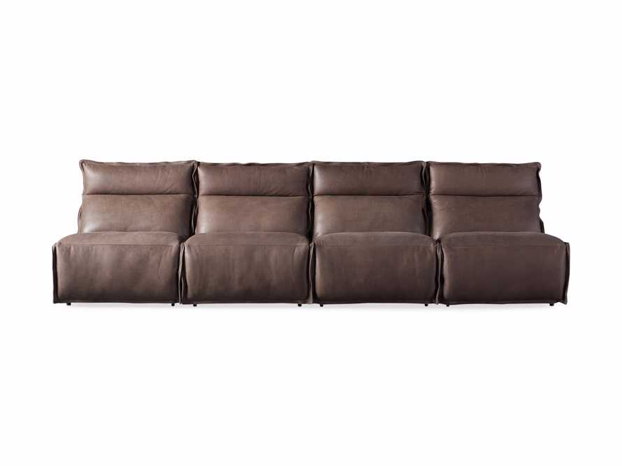Rowland Leather Four Piece Sectional in Burnham Chocolate, slide 7 of 8