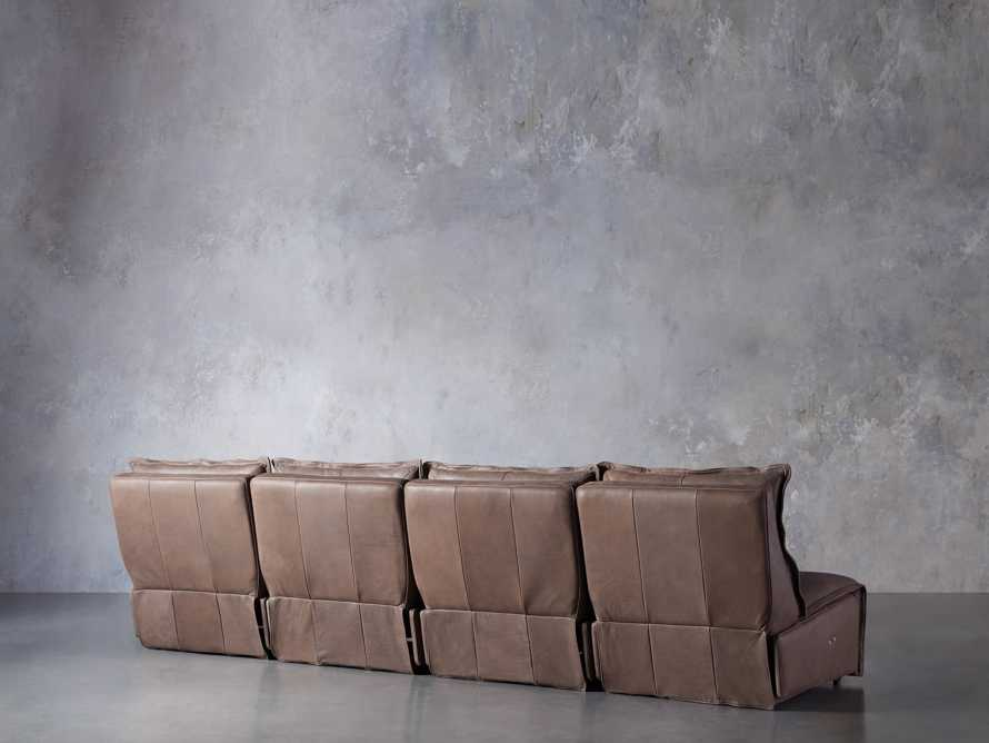 Rowland Leather Four Piece Sectional in Burnham Chocolate, slide 5 of 8