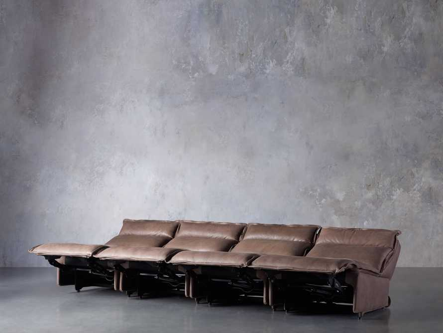 Rowland Leather Four Piece Sectional in Burnham Chocolate, slide 3 of 8