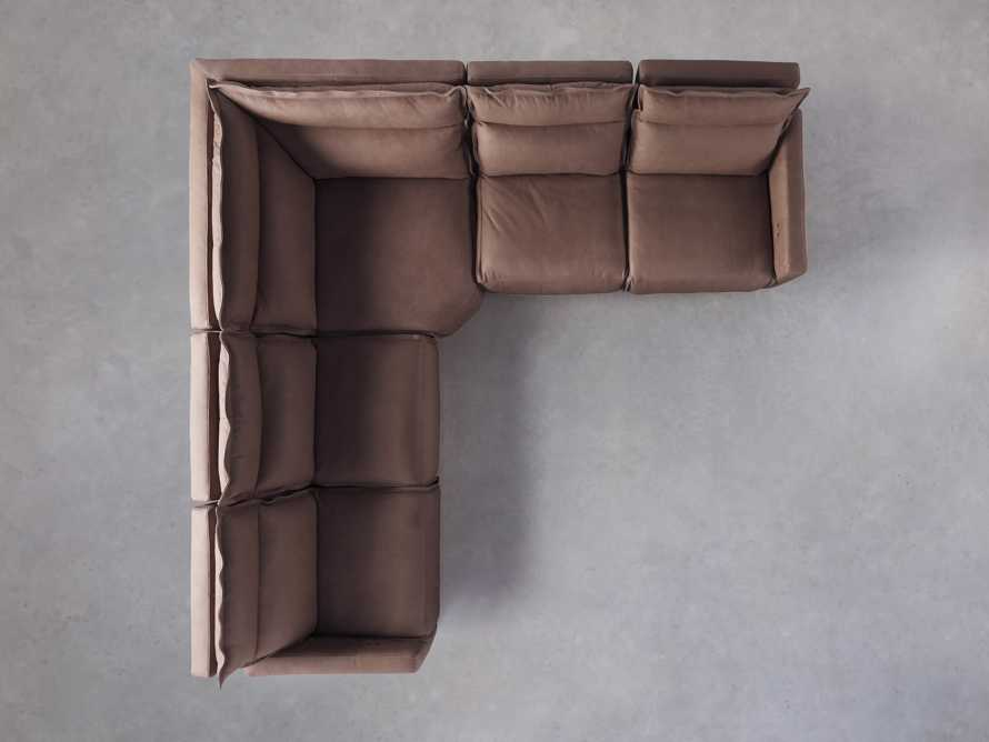 Rowland Leather Five Piece Sectional in Burnham Chocolate, slide 6 of 8