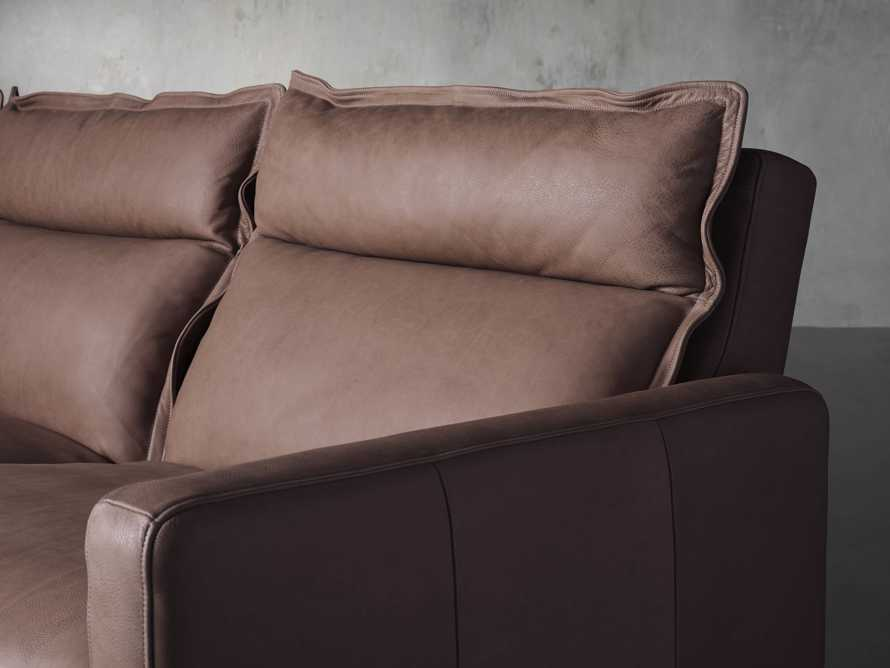 Rowland Leather Five Piece Sectional in Burnham Chocolate, slide 7 of 8