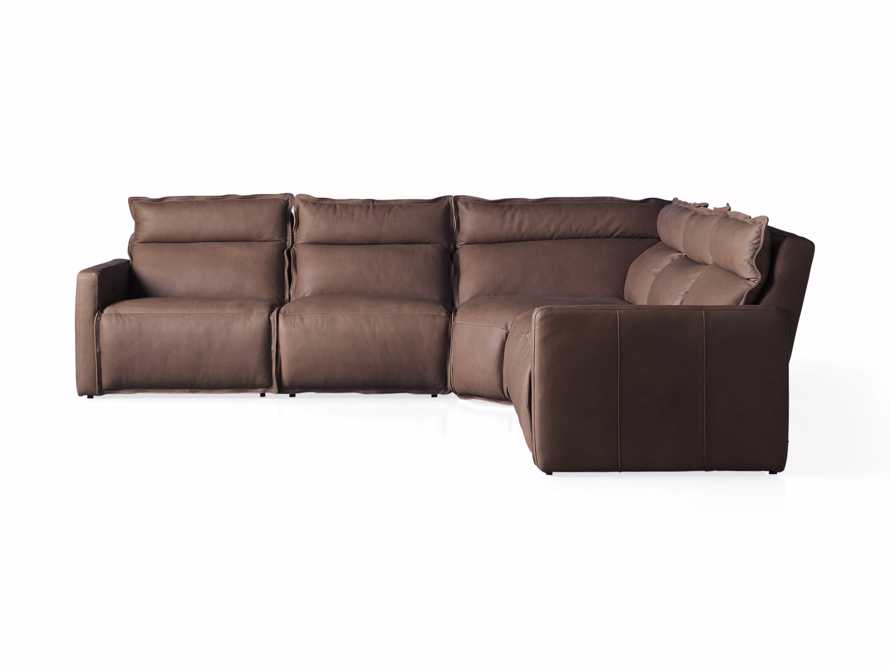 Rowland Leather Five Piece Sectional in Burnham Chocolate, slide 8 of 8