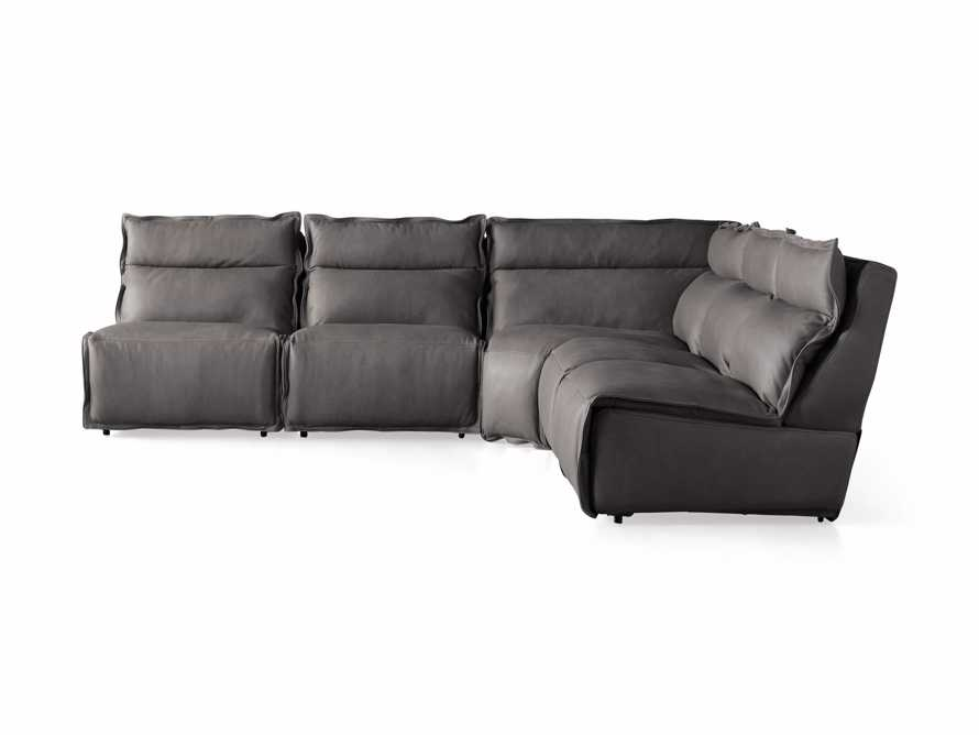"Rowland Leather 122"" Five Piece Sectional in Burnham Graphite, slide 8 of 8"