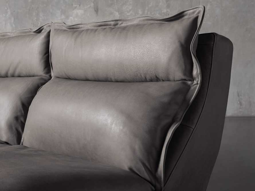 """Rowland Leather 122"""" Five Piece Sectional in Burnham Graphite, slide 6 of 8"""