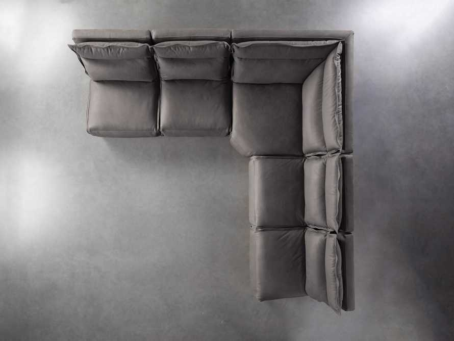 "Rowland Leather 122"" Five Piece Sectional in Burnham Graphite, slide 7 of 8"