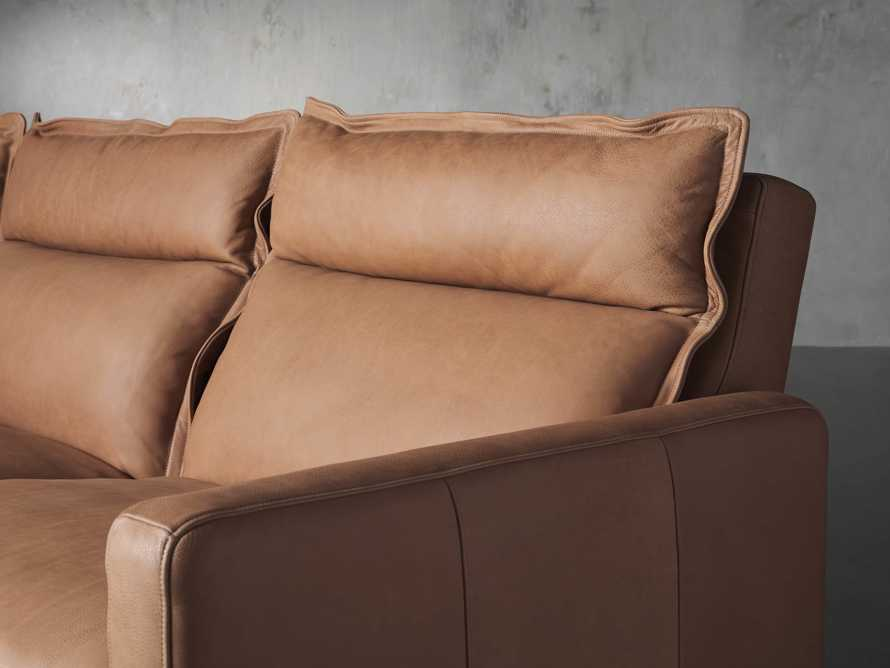 Rowland Leather Six Piece Sectional in Burnham Camel, slide 7 of 8