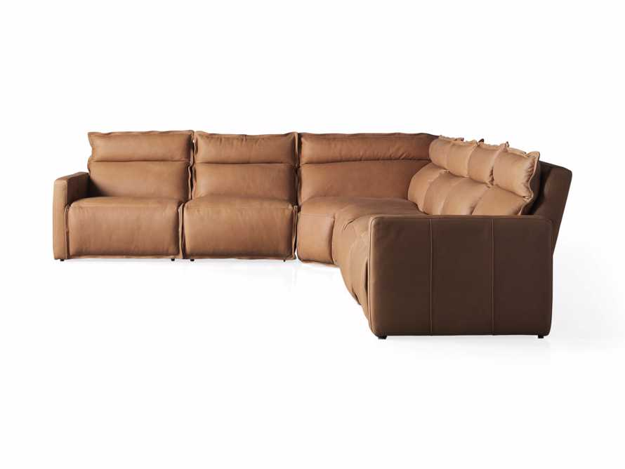 Rowland Leather Six Piece Sectional in Burnham Camel, slide 8 of 8