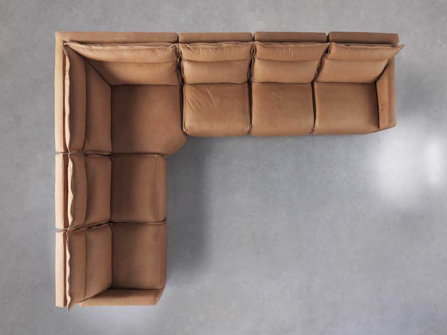 Rowland Leather Six Piece Sectional in Burnham Camel, slide 6 of 8