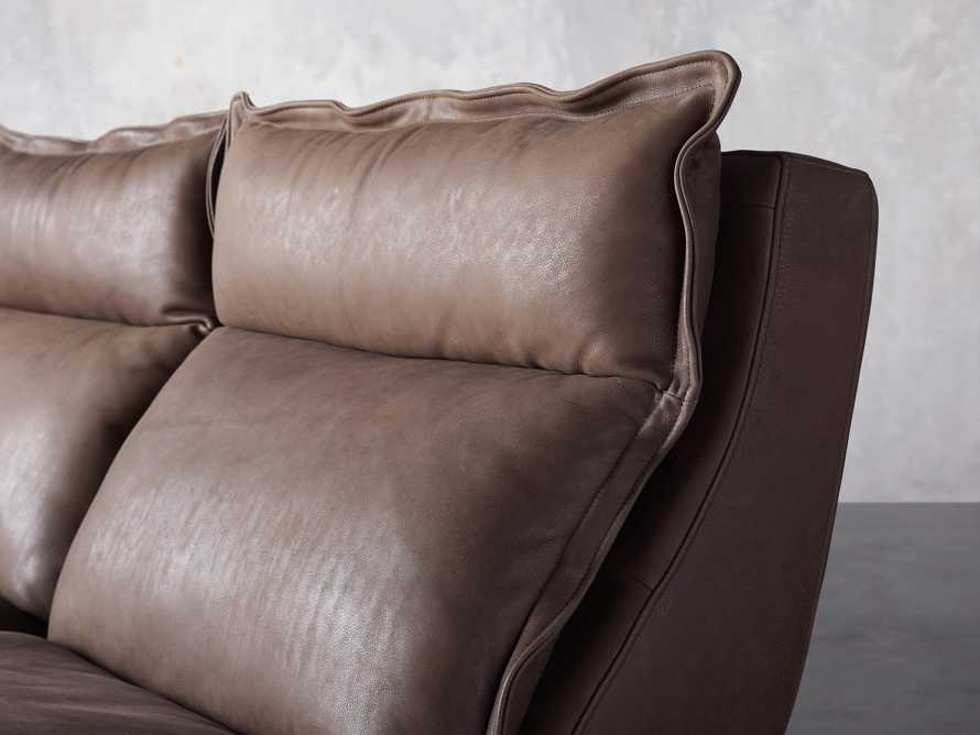 Rowland Leather Six Piece Sectional in Burnham Chocolate, slide 6 of 9