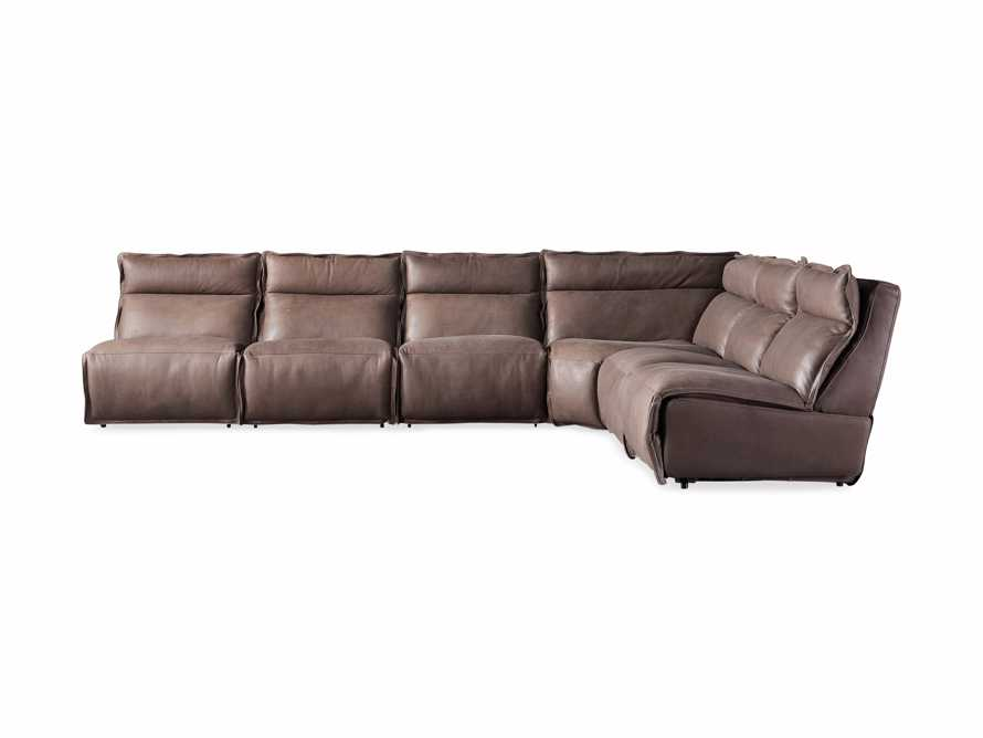 Rowland Leather Six Piece Sectional in Burnham Chocolate, slide 8 of 9