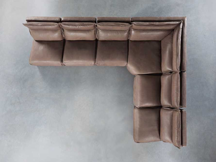 Rowland Leather Six Piece Sectional in Burnham Chocolate, slide 7 of 9