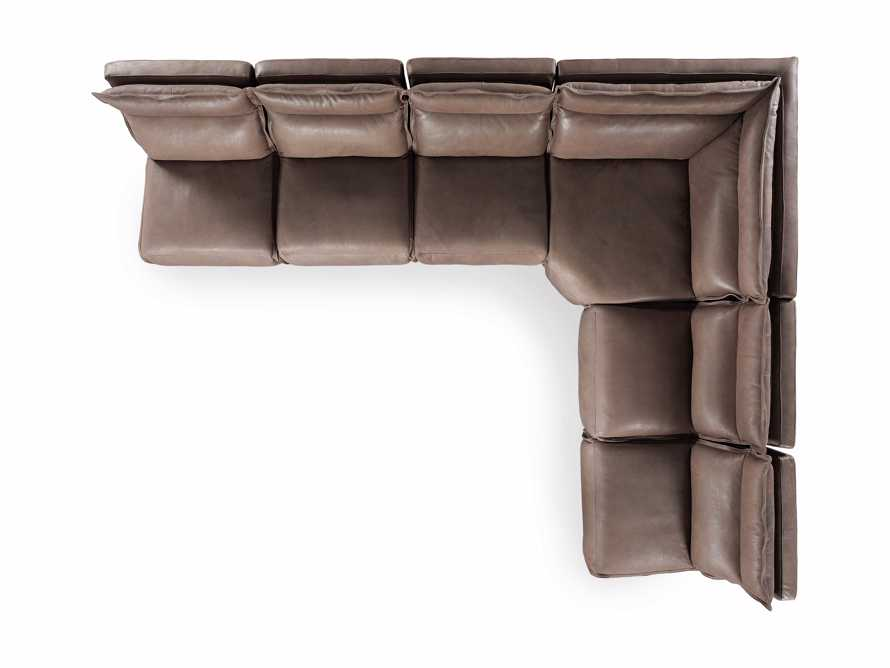 Rowland Leather Six Piece Sectional in Burnham Chocolate, slide 9 of 9