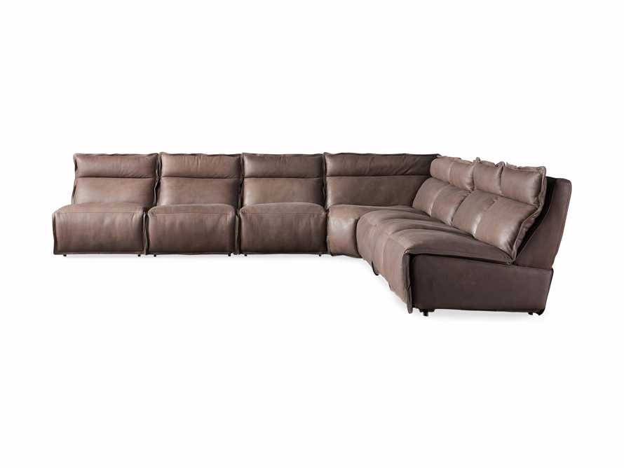 Rowland Leather Seven Piece Sectional in Burnham Chocolate, slide 8 of 9