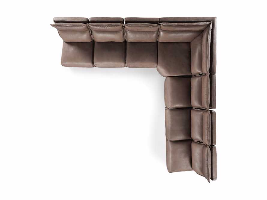 Rowland Leather Seven Piece Sectional in Burnham Chocolate, slide 9 of 9