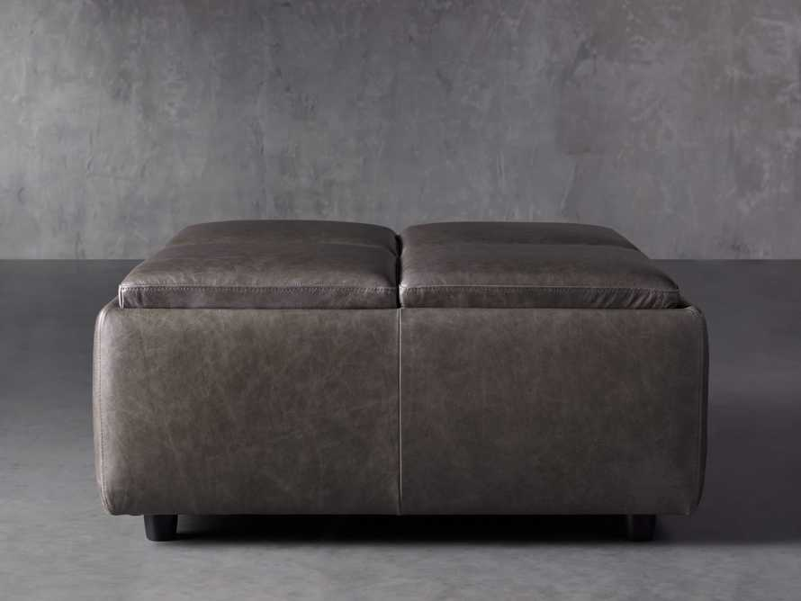 "Upton Leather 37"" Storage Ottoman, slide 1 of 9"