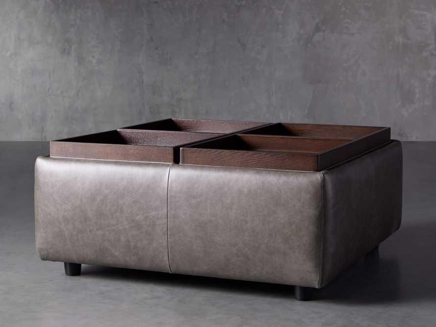 "Upton Leather 37"" Storage Ottoman, slide 3 of 9"