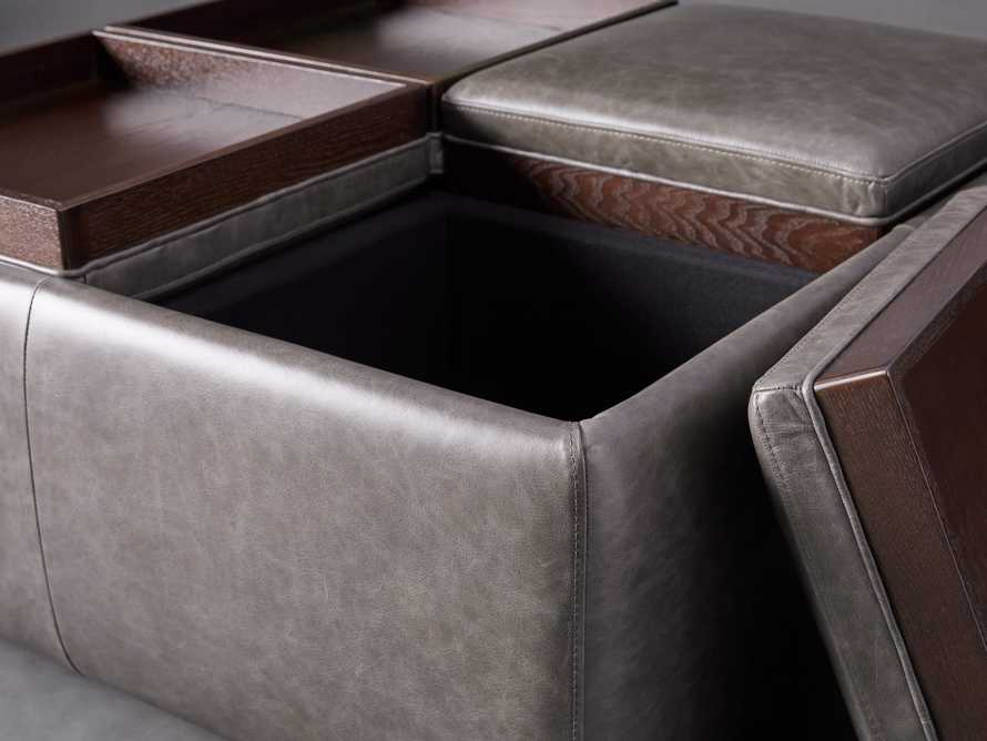 "Upton Leather 37"" Storage Ottoman, slide 4 of 9"