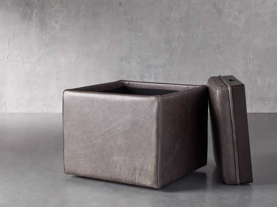 "Upton Leather 18"" Storage Cube"