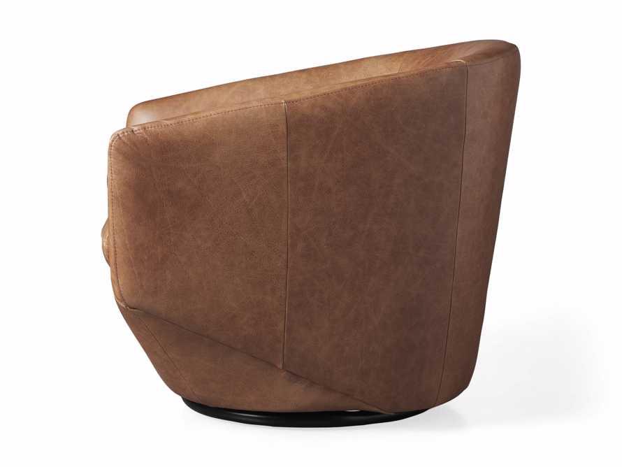 Pelton Leather Swivel Chair in Metro Brown, slide 7 of 7