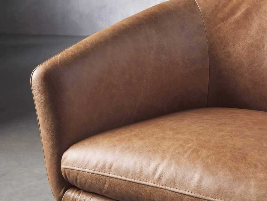 Pelton Leather Swivel Chair in Metro Brown, slide 5 of 7