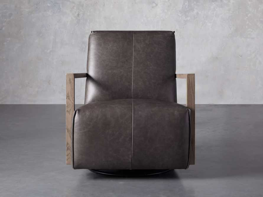 """Walsh Leather 30"""" Glider in Metro Concrete, slide 1 of 7"""