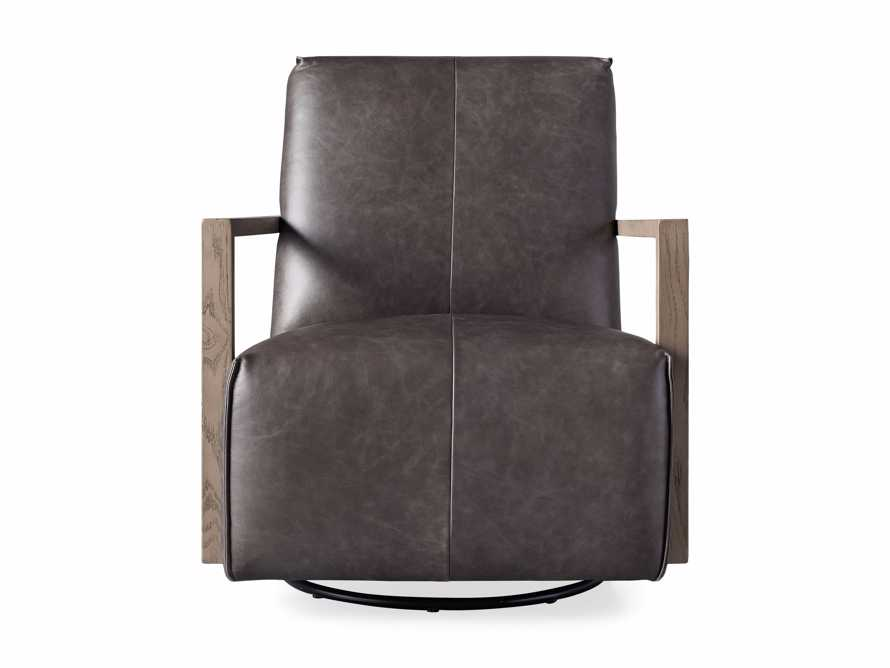 """Walsh Leather 30"""" Glider in Metro Concrete, slide 6 of 7"""
