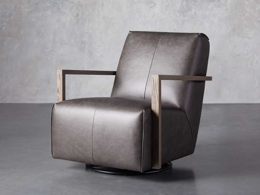 """Walsh Leather 30"""" Glider in Metro Concrete, slide 2 of 7"""