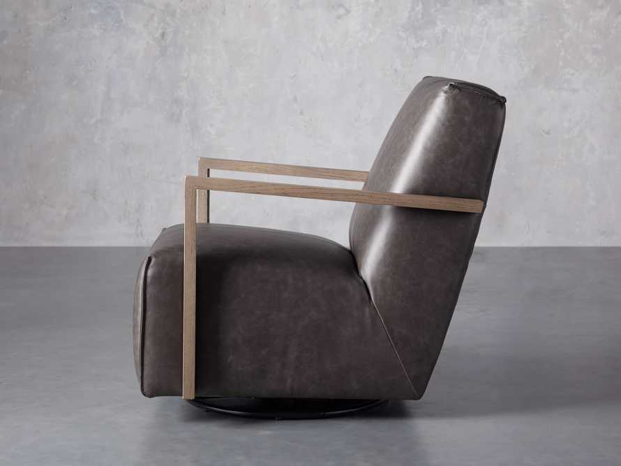 """Walsh Leather 30"""" Glider in Metro Concrete, slide 3 of 7"""