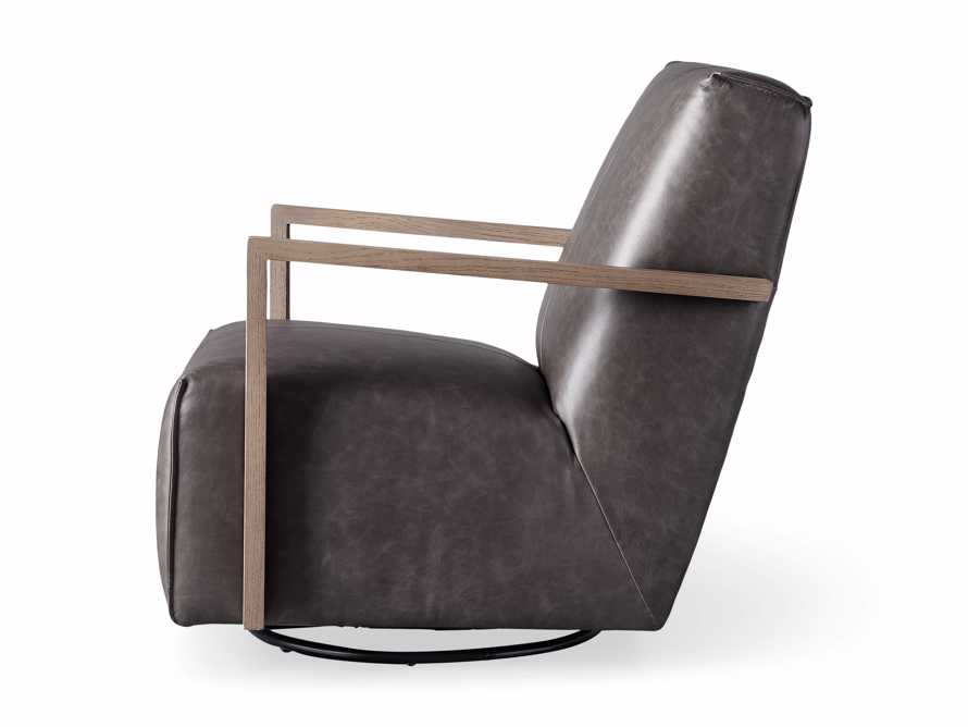 """Walsh Leather 30"""" Glider in Metro Concrete, slide 7 of 7"""