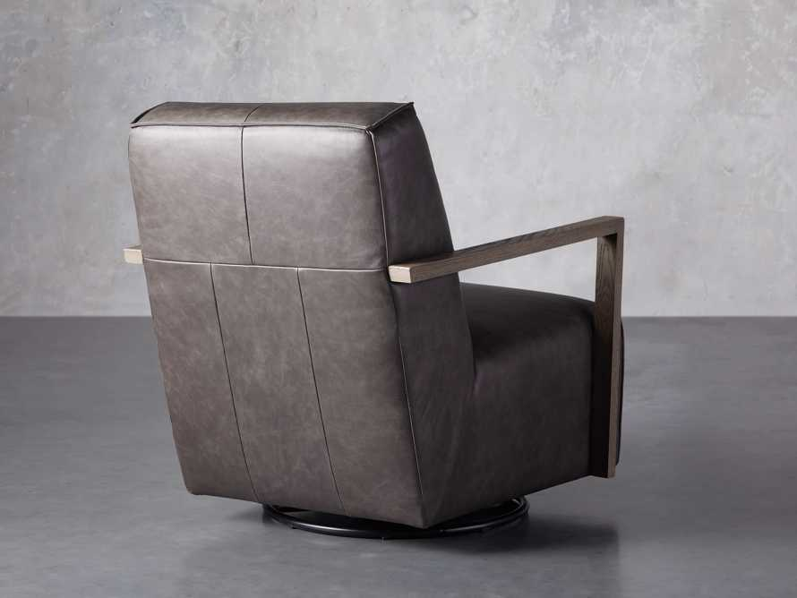 """Walsh Leather 30"""" Glider in Metro Concrete, slide 4 of 7"""
